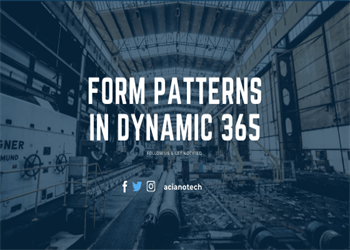 patterns in D365